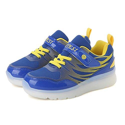 Chengniu Levou Jovem Crianças Carregamento Com Azul Brilhando De Sapatos Sapatilhas Crianças Sapatas Coloridas Piscando Usb Laços 06rY0gx
