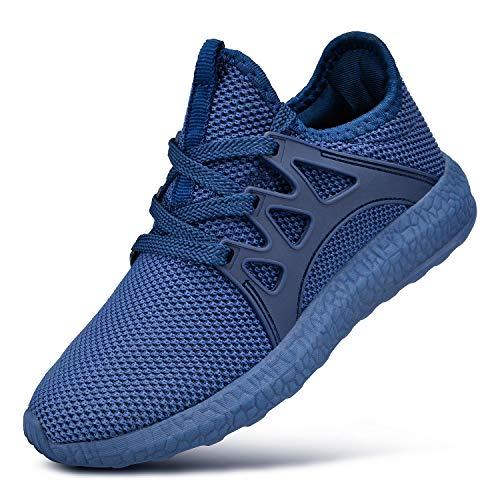 QANSI Kinder Sportschuhe Mädchen Junge Atmungsaktiv Sneaker Laufschuhe- 38 EU (Etikettgröße: 39), Blau