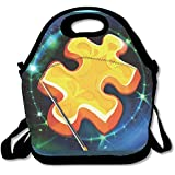 Magic Jigsaw Puzzles Lunch Bag Lunch Tote Lunch Box Handbag For Kids And Adults