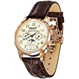 Ingersoll Herren-Armbanduhr XL Chronograph Automatik Leder IN1410RCR