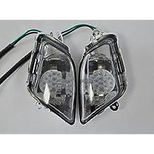 Topzone Ahumadas Luces de señal de giro de la motocicleta Con led para Honda 97-06 Cbr1100Xx
