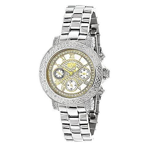 LUXURMAN Ladies Diamond Watch 0.3ct Two Tone