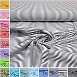 MAGAM-Stoffe ''Amelie'' Streifen in 16 Farben | 100% Baumwolle Öko-TEX Qualität | Meterware ab 50cm | FX (15. Grau)
