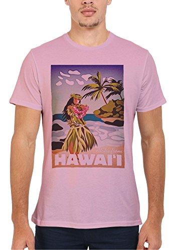 Hawaii Hula Girl Aloha Dance Novelty Men Women Damen Herren Unisex Top T Shirt Verschiedene Farben-XXL (Hawaii-womens T-shirt Rosa)