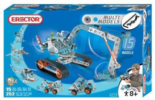 Erector 15 Model Set - 252 Pieces