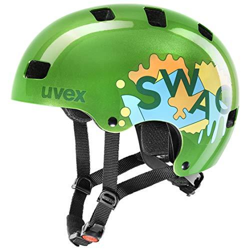 uvex Unisex Jugend, kid 3 Fahrradhelm, green, 51-55 cm