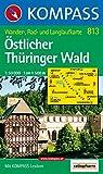 Östlicher Thüringer Wald: Wander-, Rad- und Langlaufkarte - 1:50.000 - 813 Kompass