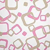 WANDfee Wandtattoo 64 Retro Vierecke mit FARBWUNSCH 2farbig Farbe Rosa Beige