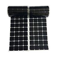 25mm Quadrat 168 Paare Selbstklebend Kletthaken und Schlaufenstreifen Satz mit super klebrigen Rückseite Nylongewebe Reißverschluss magisches Klebeband,schwarz