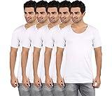 #9: RVB Men's Cotton Half Sleeve Vest (Pack of 5)