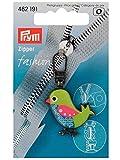 Stoffe Werning Fashion Zipper Vogel grün-blau für Kinder