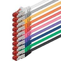0,5m - 10 couleurs - 10 pièces1aTTack.de® Cat 6 Réseau Lan - Câble - jusqu'à 1000 mégabits -Vitesse pour votre réseau! L'marques de qualité CAT6 LAN est faite pour 10/100/1000/10000 réseaux MBit Ethernet. Ainsi vous vous connectez tous les périphé...