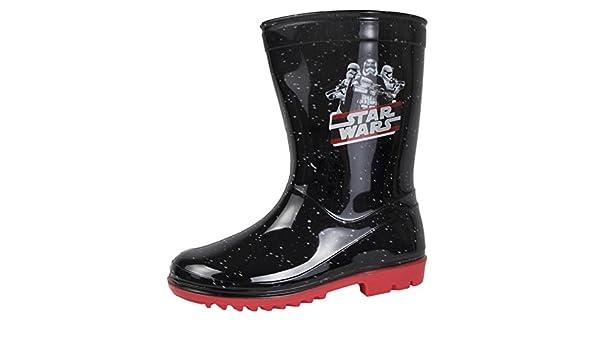 24 EU enfant Stormtrooper Kylo Ren Noir Taille 24-31 Bottes en caoutchouc Disney Star Wars Dark Vador Enfant // gar/çon