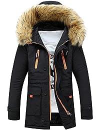 03043895630e Frauen Herren Mantel,FRIENDGG Unisex Herbst Winter Draussen Pelz Wolle  Fleece Warm Lange Kapuzenjacke Langes