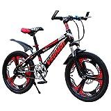 Bicicletta per Ragazzo Bicicletta Rossa Scooter per Bambini Estivo Adatto per Biciclette per Bambini Studente 6-15 Anni 18/20 Mountain Bike (Color : Red, Size : 20inch)
