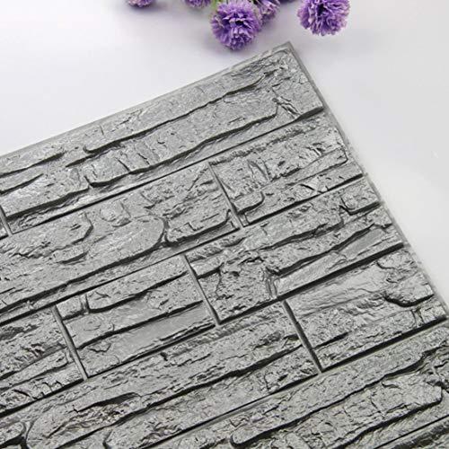 Tapete,gaddrt DIY 3D Ziege PE-Schaum Tapete Paneele Zimmer Dekor Stein Dekoration Geprägt (P) (Americana-dekor Farbe)