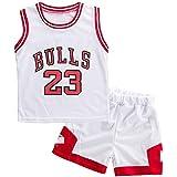 Angel ZYJ Niño Michael Jordan # 23 Chicago Bulls Retro Pantalones Cortos de Baloncesto Camisetas de Verano Uniformes y Tops d