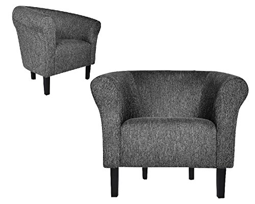 FORTISLINE Clubsessel Loungesessel Cocktailsessel MONACO 2' FASHION Hellgrau W364 17