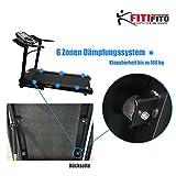 Fitifito® Laufband Heimtrainer Fitnessgerät 99+ Programme klappbar LED Bildschirm Dämpfung (EMEC660B) - 6