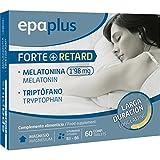 Epaplus Melatonina Forte, Retard y Triptófano Larga Duración - 60 Cápsulas
