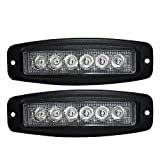 Faros de Trabajo Led,JieHe 2PCS 18W Luces Trabajo Led LED Light Bar Montaje de luces de antiniebla IP67 Impermeable para Off-Road, Camión,Coche, ATV, SUV, Barco (18W)