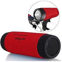 Altavoces Inalámbricos ZEALOT impermeable S1 CSR4.0 Altavoces Bluetooth portátiles IP55 a prueba de golpes Anti-polvo estéreo Boombox 5en1 combo- 4000mAh Banco de la Energía Externa del Cargador de Batería / LED de luz de la Linterna / Micro SD Tarjeta de Reproductor de Música / Hi-Fi Micrófono Libre de la Mano de Llamadas / Entrada de Audio Upto 24 Horas de Reproducción de Larga Duración de los Altavoces al Aire Libre - Rojo