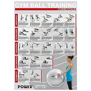 gymnastikball workout bungsposter din a1 beginner training poster sport freizeit. Black Bedroom Furniture Sets. Home Design Ideas