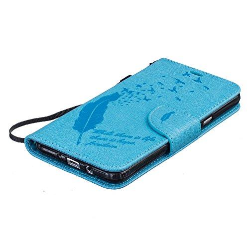 Custodia Samsung Galaxy J7 (2016), Sunroyal® Custodia in Pelle, in Piedi la Vista Diario Custodia Copertura di Vibrazione Portafoglio Flip Cover con Chiusura Magnetica per Samsung Galaxy J7 (2016) SM- Modello 26