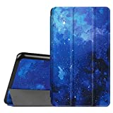 Fintie Hülle für Samsung Galaxy Tab A 7.0 Zoll SM-T280 / SM-T285 Tablet (2016 Version) - Ultra Schlank Superleicht Ständer Slim Shell Case Cover Schutzhülle Etui Tasche, Sternenhimmel
