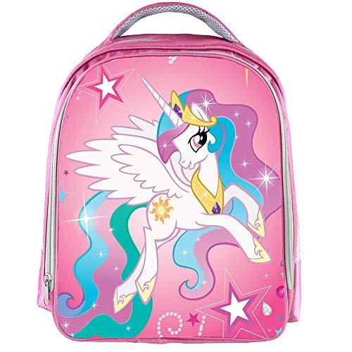 QYS Personalisierte Mädchen Schultasche Baby Einhorn hübscher Rucksack Kinderbuch Kinderrucksack,Unicorn11