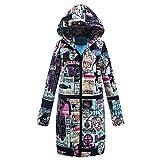 Yvelands Winter Mantel Outwear lose Baumwolle warme gedruckte Taschen dickere Hasp mit Kapuze damenmantel kurzer Wetterjacke Herbstjacken Warmer Steppjacke Outdoorjacken