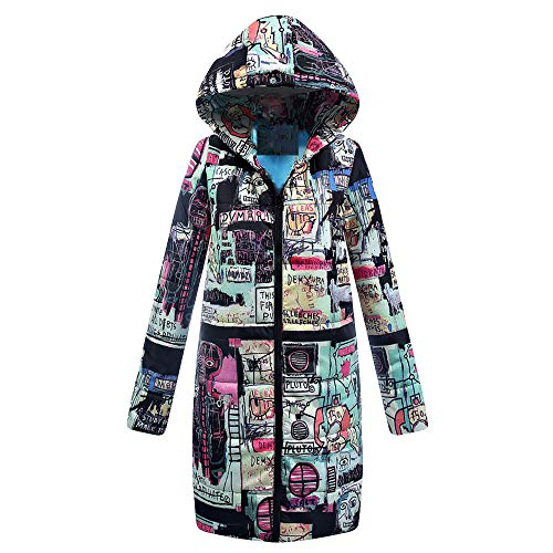 AIni Damen Winter Lange Down Cotton Damen Parka Kapuzenmantel Steppjacke Outwear Warm Jacke Mäntel Coat Neuheit 2019(XXL,Schwarz)
