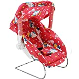 #4: Ehomekart Kid's Red Carry Cot cum Bouncer - 11 in 1 (Print May Vary) - FEEDING CHAIR, BABY CHAIR, ROCKER, CARRYING, BOUNCER & BABY SWING