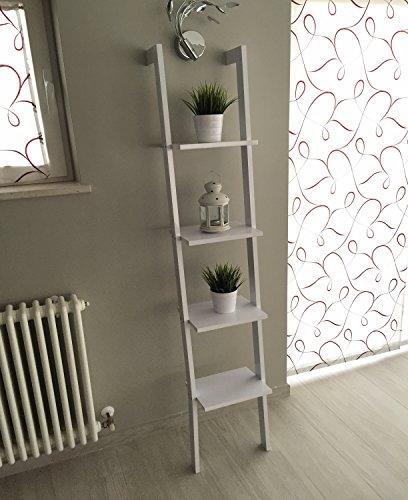 Libreria mensola scala mensola design scaffale libri a - Scaletta porta asciugamani bagno ...