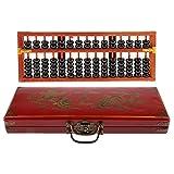 Baoblaze Vintage Chinesische Holzperle 15 Stangen Arithmetik Abakus Mit Box Sammlung