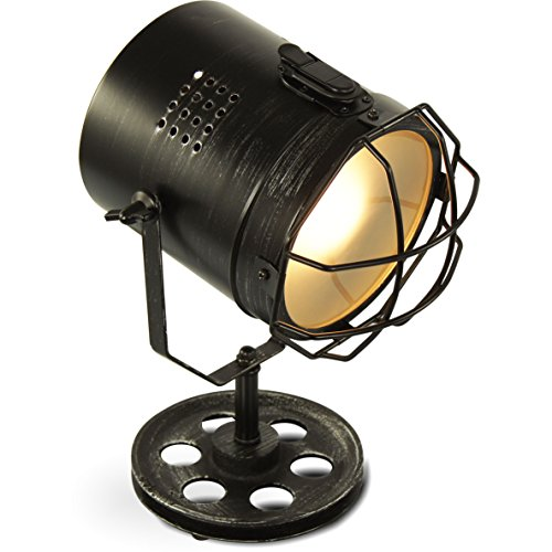MOJO Industrial Chic Tischlampe Retro Vintage Deko Lampe Tischleuchte l45 - Industrial Vintage Bücherregal