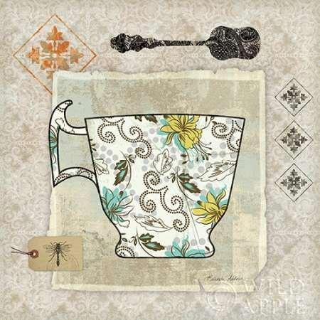 Impresión de Arte Fino en lienzo : Garden Cafe III by Aldrich, Belinda - pequeña (30 x 30 Cms)