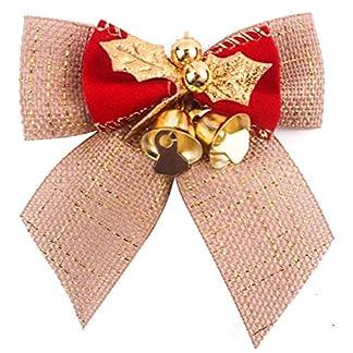 Topdo 1pcs Nudo de Navidad con Las Campanas de Hierro espumillón de Navidad Adornos para árbol de Navidad 8* 8cm