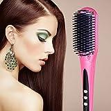 Euph Nano Fer à lisser - Professional Anion Cheveux Lisseur en céramique - chauffage rapide - Anti-échaudage et Anti-statique( Rose )