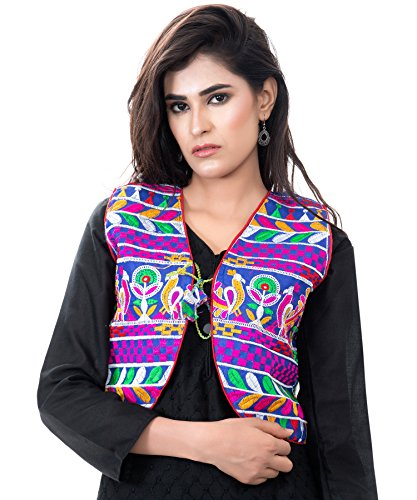 Banjara India Kutchi Short Choli Jacket [Duck] (Blue)