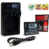 LOOKit® - Premium Batterie BLG10 - 850mAh + LOOKit Chargeur pour Panasonic LUMIX DMC TZ90 TZ91 TZ100 TZ101 TZ80 TZ81 GX80