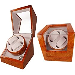 Orbit Automatic Dual Watch Winder With Four Modes: Suitable for Rolex, Omega, Tag Heuer, Cartier And All Automatic Watches
