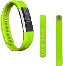 Voberry Replacet Wrist Band Silicone Strap Clasp+Protector Film for Fitbit Alta Hr 38mm Green