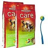 MERA Dog 2 x 12,5 kg CARE LIGHT High Premium Hundefutter + Ballschleuder