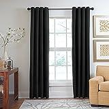 veratex die Majestät Fenster Kollektion Made in die USA 100% Chenille Wohnzimmer Tülle Fenster Schiebevorhang, anthrazit, 304,8cm