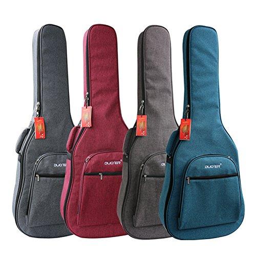 Gitarrentasche 106,7 Cm (106,7 Zoll), Wasserdicht, Dick, 12 Mm, Perl-baumwolle, Stoßfest, Gitarrentasche Mit Doppelgurt Und Außentaschen Grau