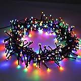 OUSFOT LED Lichterkette Bunt fürInnen&Außen Lichterkette strombetrieben 300 LEDs 8Leuchtmodi für Hochzeit Party Garten