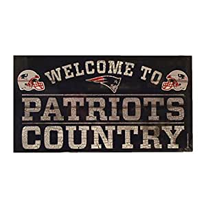 Wincraft NFL New England Patriots Wood Sign Holzschild Welcome to Country 61cm x 33cm