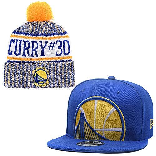 ace9936f ... de la NBA Ajusta la Gorra Plana Deportiva de Unisex Adulto y el  Casquillo Mantienen el cálido Gorro de Punto (Golden State Warriors(Stephen  Curry))