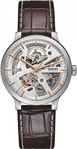 Rado Women's Centrix 38mm Brown Leather Band Steel Case Automatic Silver-Tone Dial Analog Watch R30179105